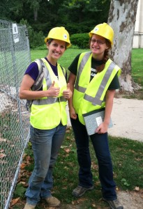 Katie Scharra and I after working on the West Circle Steam II project, via Katy Meyers