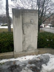 Pillar at Abbot Rd entrance. Courtesy MSU Archives