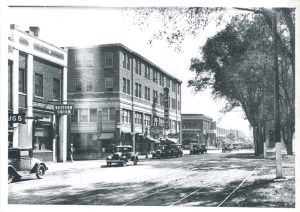 View of Grand River looking east, 1920s