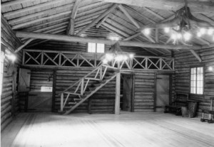Interior view from Chittenden Memorial Cabin, courtesy MSU Archives