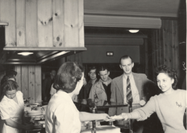 Serving Food in the Union Cafeteria - 1941