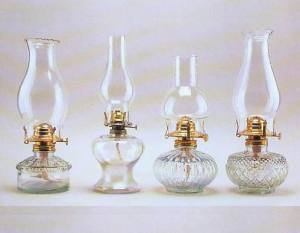 Examples of Kerosene Lamps with Hurricane Shade - Image Source