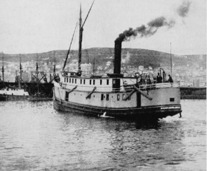 "The steamer ""Hiram R Dixon"" fished regularly along Lake Superiors North Shore. Image Source"
