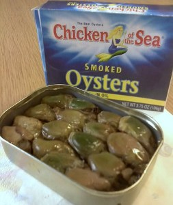 Canned Oysters - mmmm!!! Image source