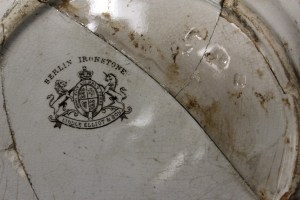 Liddle Elliot & Sons makers mark from Berlin Swirl Dish - recovered from West Circle Privy