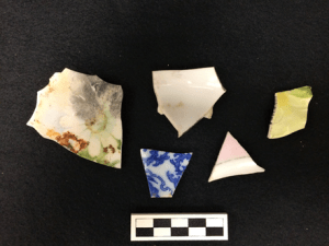 Assorted porcelain from the Gunson site.