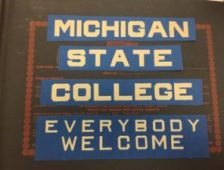 Cover of scrapbook. Image courtesy of MSU Archives & Historical Collections.
