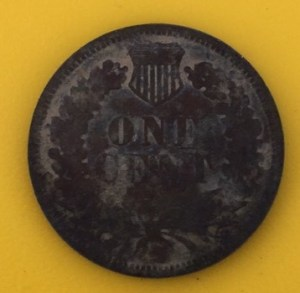 1882 Indian head penny excavated from Unit C.