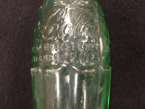 Close up of bottle from Brody/Emmons Dump showing the Dec. 25, 1923 patent date.