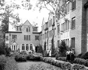 Mary Mayo Hall, a stop on the Apparitions and Archaeology Tour, is said to be haunted
