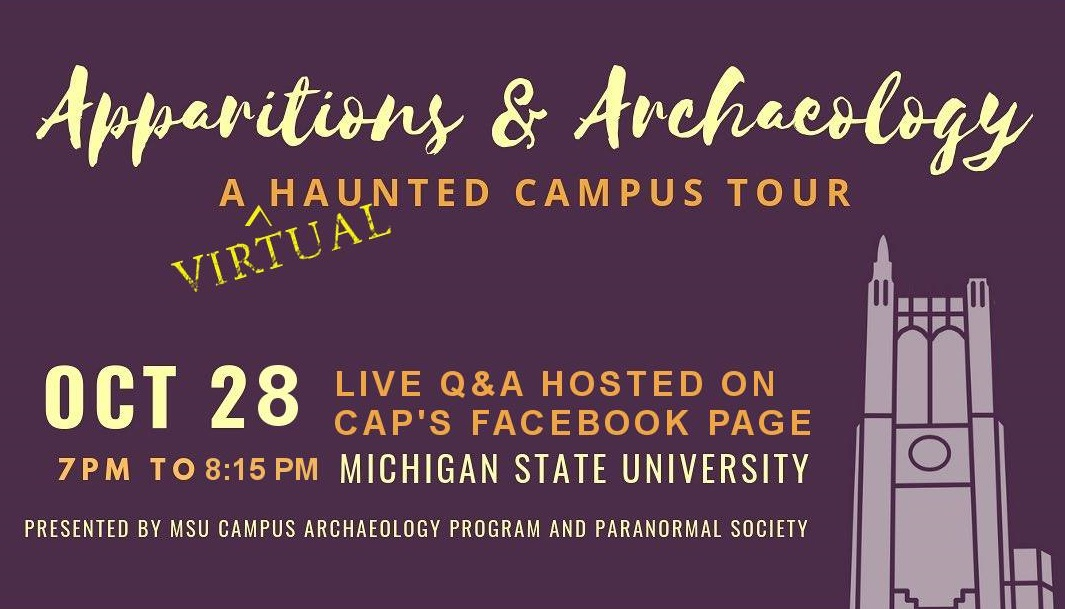Revealing the new APPARITIONS and ARCHAEOLOGY Virtual HAUNTED CAMPUS TOUR