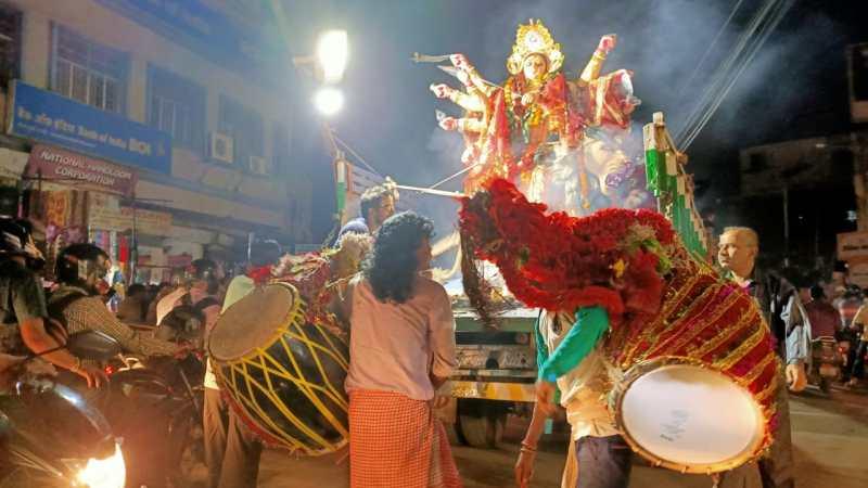 Durga Puja Visarjan in Ranchi