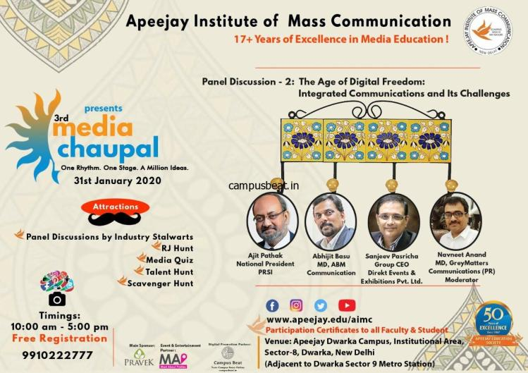 The 3rd Media Chaupal is here. Register Now!