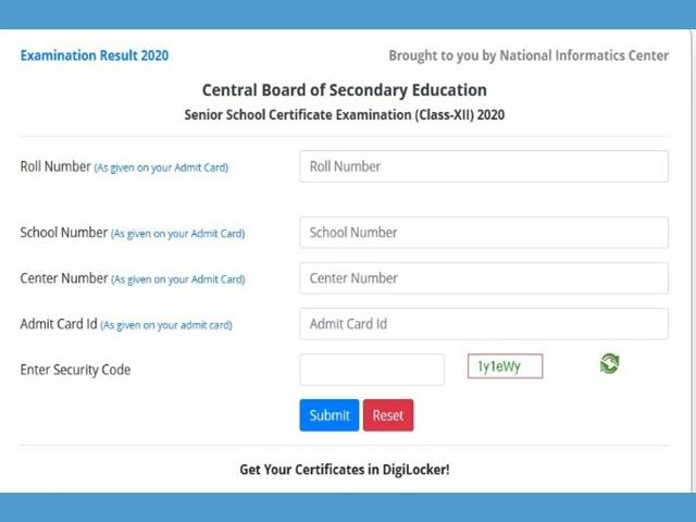 CBSE declares Class 12 Results