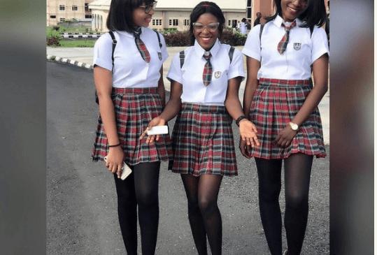 Female Students Of Ekiti University Recreate Korean School Mode Of Dressing