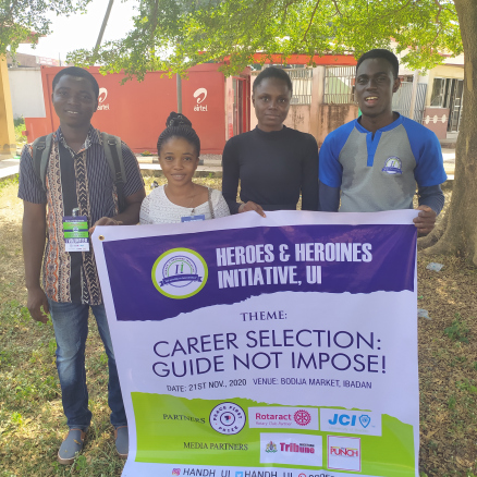 Heroes and Heroines initiative, JCI-UI,Rotract club hold walk against career imposition by parents.