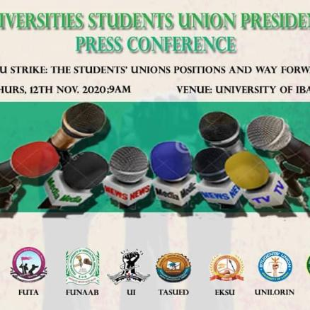 STUDENTS UNION PRESIDENTS' PRESS CONFERENCE
