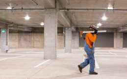 The East End Parking Facility is slated to open in August.