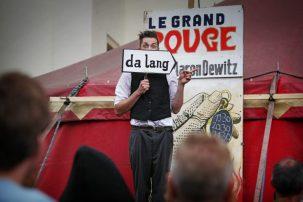 Aaron Dewitz, einer der Schaubuden-Künstler
