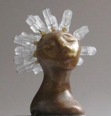 Chill, miniature head sculpture in snow globe, Camryn Forrest Designs, Denver Colorado