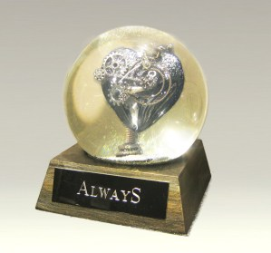 Always heart globe, Camryn Forrest Designs, Denver, Colorado USA