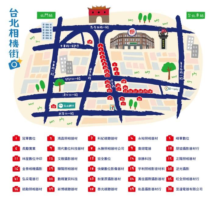 台北相機街會員店家