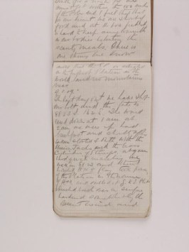 Nimrod Sledge Diary, 9 January 1909. This is the entry on the day that they reached the furthest south before turning around, MS_1537_3_6_Nimrod © Scott Polar Research Institute