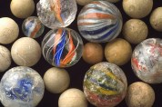 Marbles found in Peterborough.