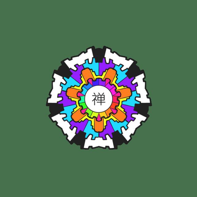 Chan Symbol Rainbow Contrast