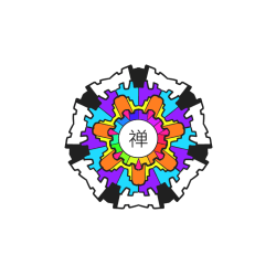 Rainbow Contrast Mandala