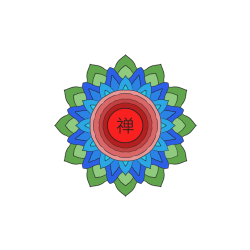 Three Colour Flower Mandala