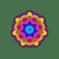Orange Petal Contrast Mandala