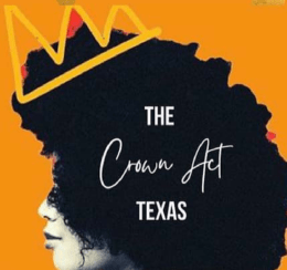woman with afro hair graphic