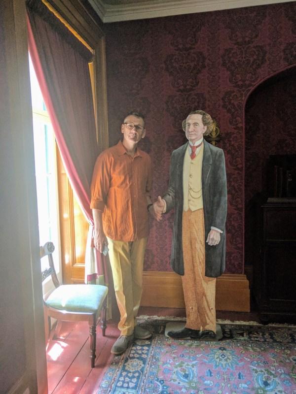 Paul with Sir John A MacDonald