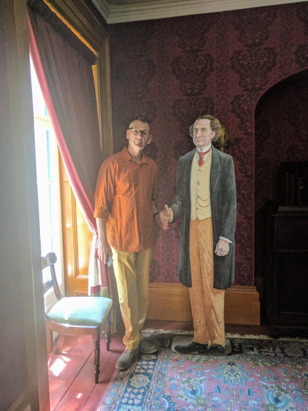 Paul with Sir John A MacDonald