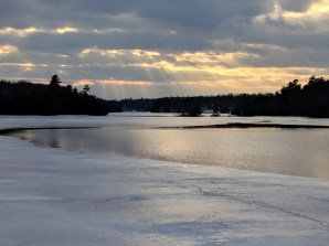 Winter water from Haskin's Point