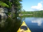 Kayaking on Charleston Lake