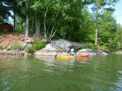 Paddling the shores of Cranberry Lake