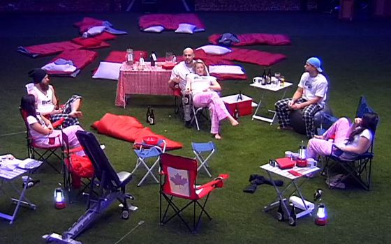 Big Brother Canada HGs camp out