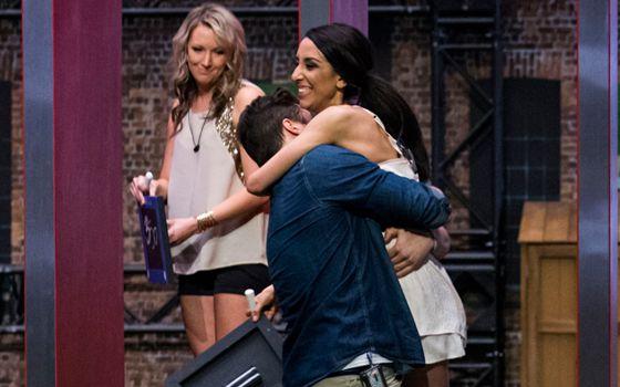 Jon and Neda celebrate on Big Brother Canada