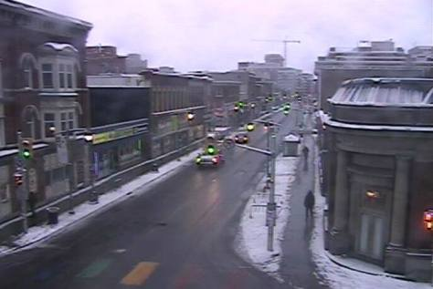 09032018 - Good morning from Ottawa - Ontario. 630 am. Bank Street. Still snowing lightly. Maybe I can get to the store for the first time in eight days. Going to give it a try - Klaus J Gerken