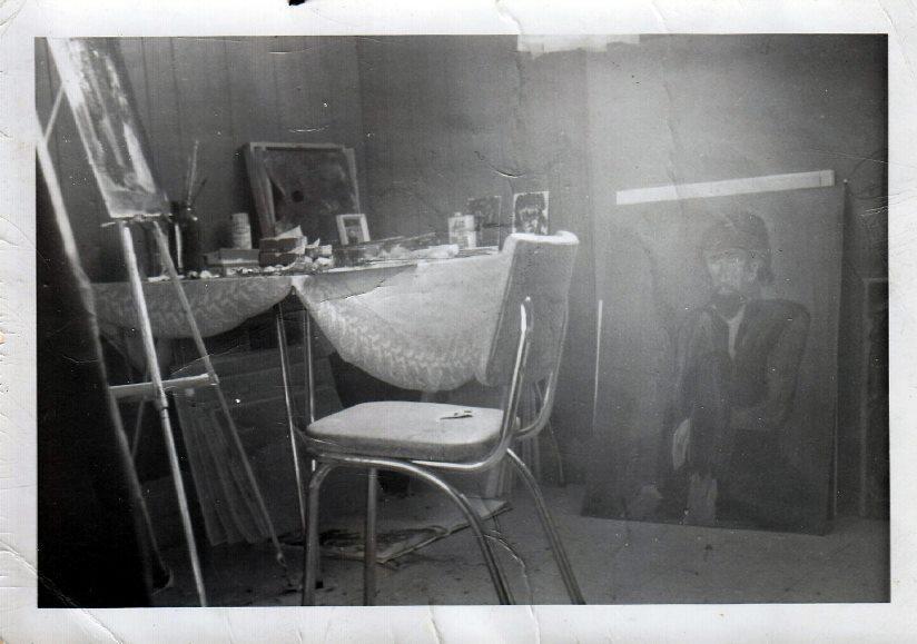 My basement studio in 1973.