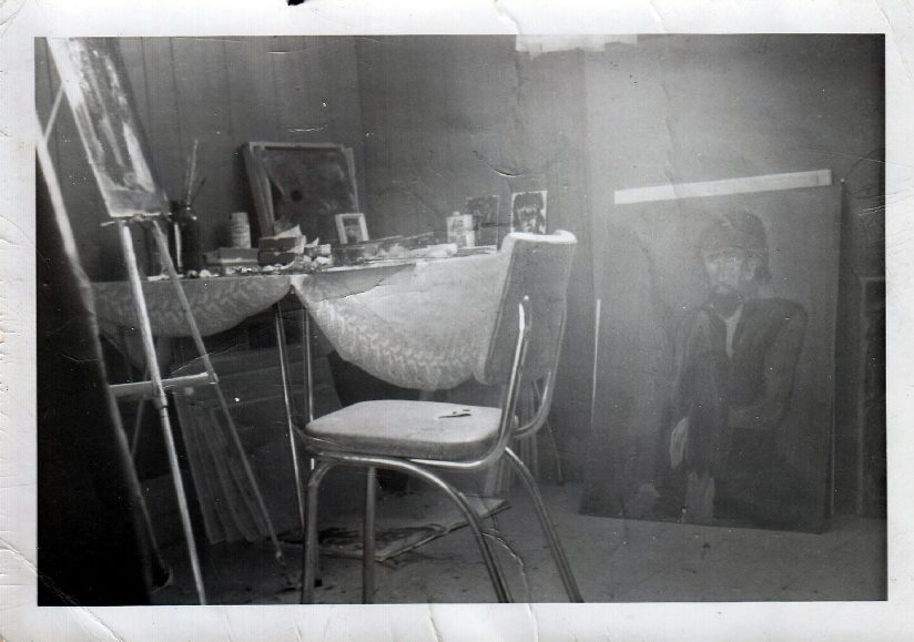 My basement studio in 1973.