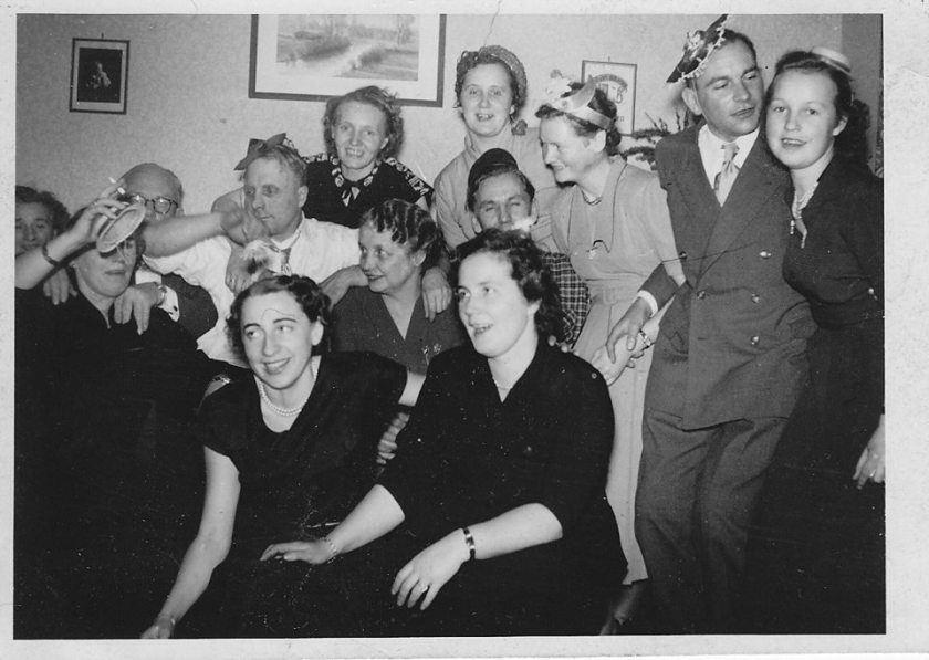 New Years Eve party 1952 - Cuxhaven - Germany