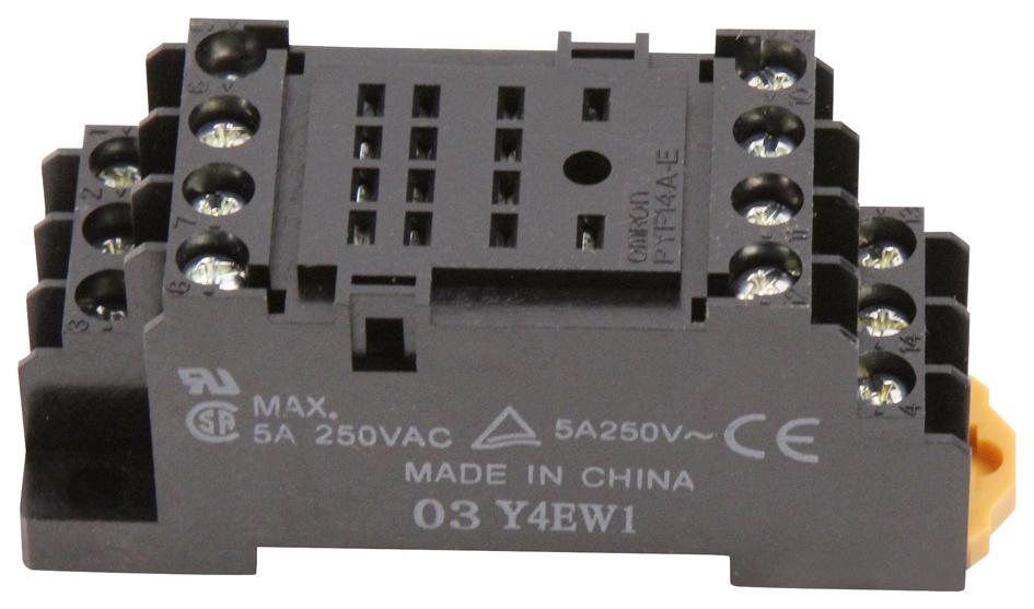 Pyf14a E Omron Industrial Automation Relay Socket Front