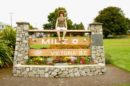 Mile 0 - the official start of the Trans-Canada Highway