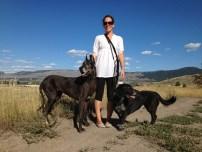 My Merritt host, Katie, with her dogs