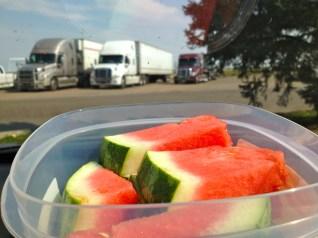 Truck stop snack break