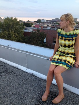 Eve, on the roof of her apartment