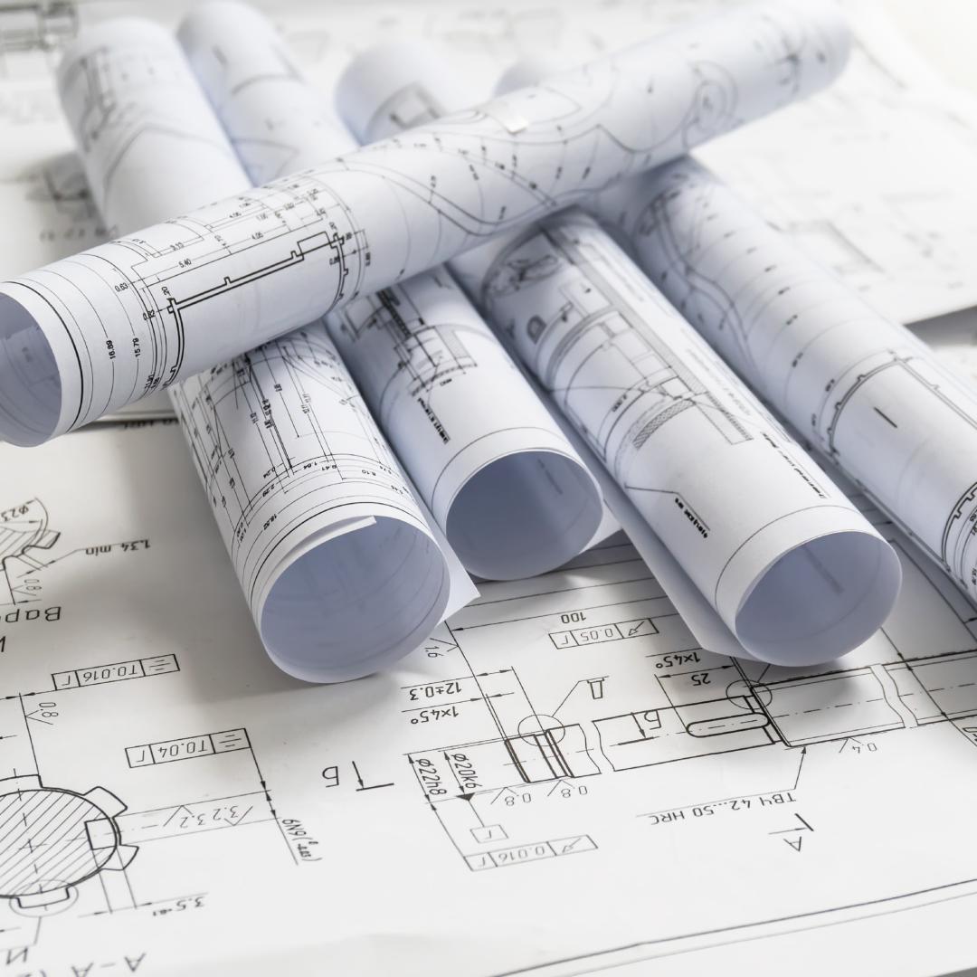 B/W Engineering CAD Blueprint Printing
